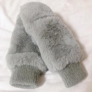 ムジルシリョウヒン(MUJI (無印良品))のミトン グレー 手袋 2way(手袋)