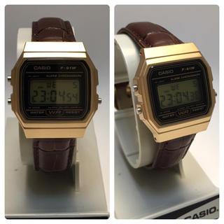 アパルトモンドゥーズィエムクラス(L'Appartement DEUXIEME CLASSE)のハンドメイド  腕時計 カシオ CASIO 牛革 ゴールド 国内未発売 保証書付(腕時計)