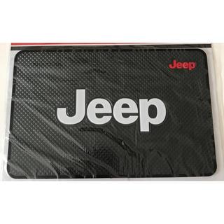 ジープ(Jeep)のJeep エンブレム ダッシュマット アクセサリー ラバーマット(車内アクセサリ)
