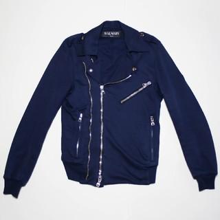 バルマン(BALMAIN)のBALMAIN バルマン 15SS コットン ライダースジャケット XS(ライダースジャケット)