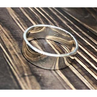 平打ち シルバー925 リング  28号メンズギフト銀大きいサイズシンプル 指輪(リング(指輪))