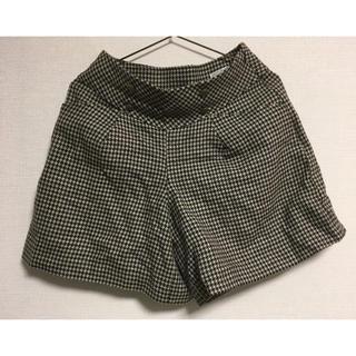 クチュールブローチ(Couture Brooch)のショートパンツ キュロット 千鳥格子 こげ茶? 36サイズ(S)(ショートパンツ)