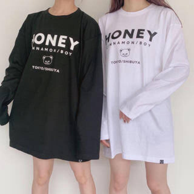 Honey Cinnamon(ハニーシナモン)のハニシナ ロゴT レディースのトップス(Tシャツ(長袖/七分))の商品写真