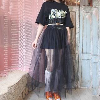 ロキエ(Lochie)の馬Tシャツ vintage 黒(Tシャツ(半袖/袖なし))