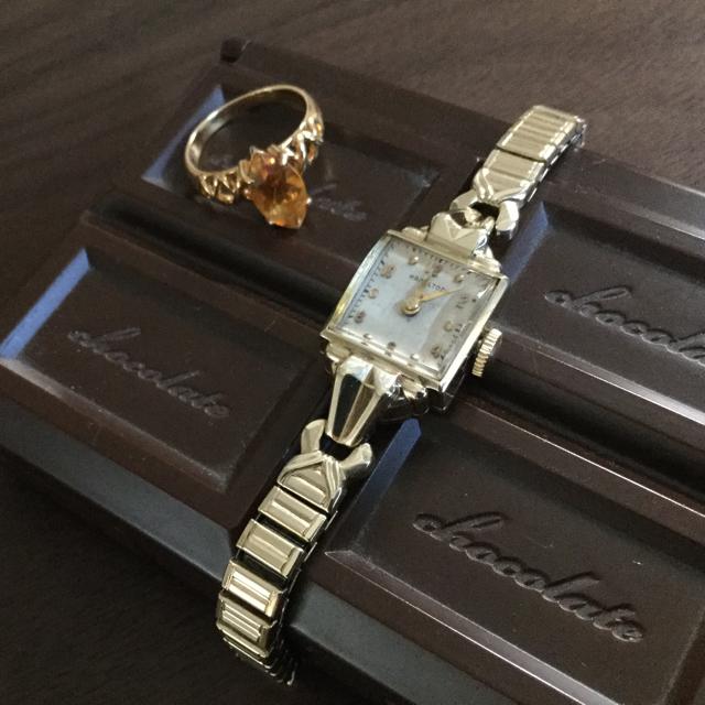 ロレックス コピー 高品質 / Hamilton - アールデコなハミルトン★K14金無垢イエローゴールド手巻き腕時計アンティーク美品の通販