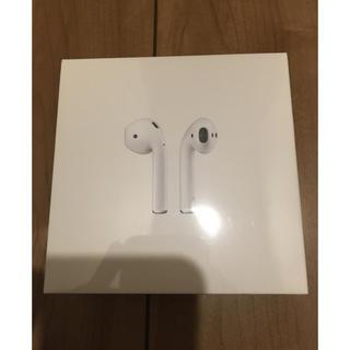 アップル(Apple)のApple AirPods 第2世代 未使用未開封 MV7N2J/A ☆(ヘッドフォン/イヤフォン)