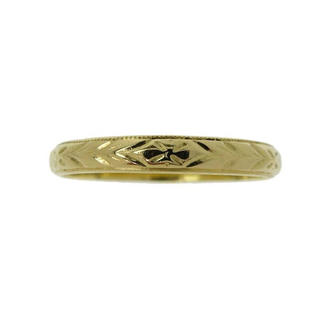 柄彫り シンプル リング・指輪 K18 ゴールド(リング(指輪))