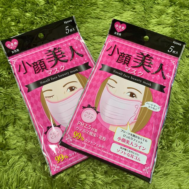 マスク 立体型 プリーツ型 咳 くしゃみ - マスク 小顔 美人 5枚入 2セット 10枚‼️の通販 by みいた's shop