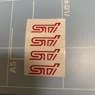 スバル(スバル)のスバル STIロゴステッカー 4枚セット レッド(汎用パーツ)