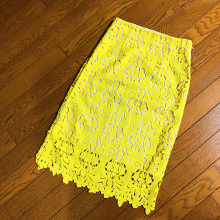 バナナリパブリック(Banana Republic)のBANANA REPUBLIC ♡ レースタイトスカート(ひざ丈スカート)