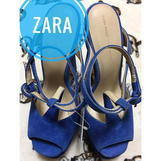 ザラ(ZARA)のZARA BASIC【未使用、タグ付き】アンクルストラップ ヒール パンプス(ハイヒール/パンプス)