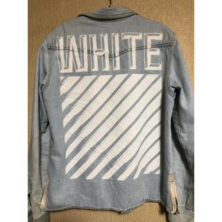 オフホワイト(OFF-WHITE)のオフホワイト off-white デミムシャツ デニムジャケット mサイズ(その他)