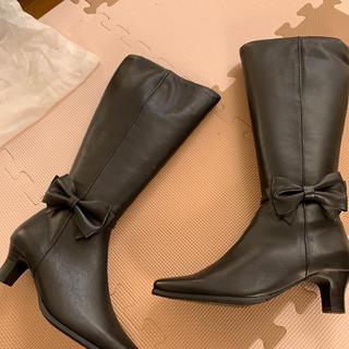 マリーファム(Marie femme)のロングブーツ Marie femme 22.5 新品 筒広め(ブーツ)