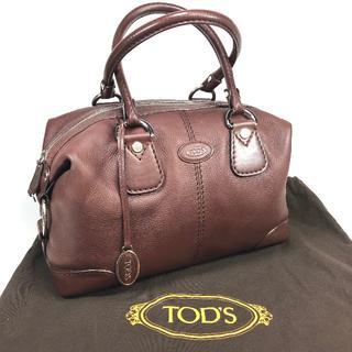 トッズ(TOD'S)の【美品】 トッズ レザー ハンドバッグ ダークブラウン 保存袋付(ハンドバッグ)