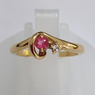 ヴァンドームアオヤマ(Vendome Aoyama)のヴァンドーム VENDONE k18 ピンク石 ダイヤモンド リング 指輪(リング(指輪))