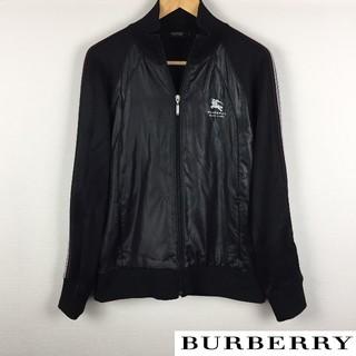バーバリーブラックレーベル(BURBERRY BLACK LABEL)の美品 BURBERRY BLACK LABEL 長袖ジャージ ブラック サイズ3(ジャージ)
