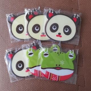 パンダとカエルのメモ帳 6個セット(ノート/メモ帳/ふせん)