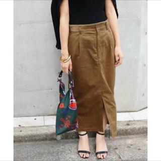 イエナ(IENA)のイエナ IENA 太コールタック スカート 34(ロングスカート)