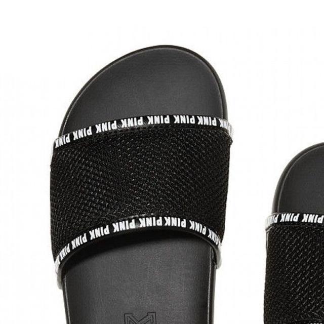 Victoria's Secret(ヴィクトリアズシークレット)の送料込★新品 ヴィクトリアシークレット オープンサンダル 可愛い ブラック レディースの靴/シューズ(サンダル)の商品写真