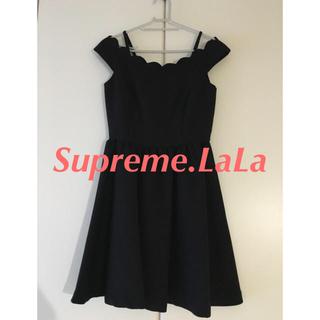 シュープリームララ(Supreme.La.La.)のシュープリームララ ワンピース ドレス 黒(ひざ丈ワンピース)