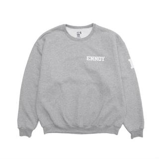 1LDK SELECT - ennoy college sweat L grey×white
