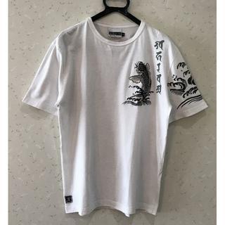 インフィニティ(Infinity)の*インフィニティ INFINITY 和柄 鯉 刺繍 プリント 半袖 Tシャツ L(Tシャツ/カットソー(半袖/袖なし))