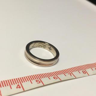 ブルーム(BLOOM)のBLOOMピンクシルバー?シンプルデザインのリング☆内側にダイヤ入り☆(リング(指輪))