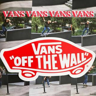 ヴァンズ(VANS)のVANSバンズUS限定型抜きBIGsk8アイコンステッカーred(スケートボード)