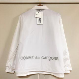 コムデギャルソン(COMME des GARCONS)の限定品 新品 送料込 コムデギャルソン リバーシブル コーチジャケット ホワイト(ナイロンジャケット)