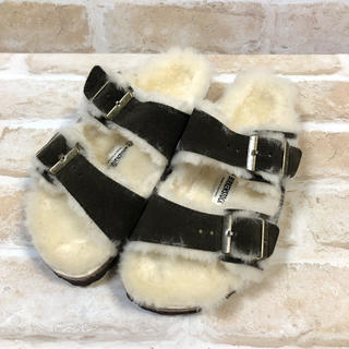UNITED ARROWS - 未使用 BIRKENSTOCK Arizona Fur モカ 35 サンダル