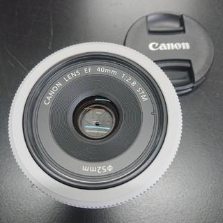 キヤノン(Canon)の【美品】EF40mm F2.8 STM ホワイト(レンズ(単焦点))