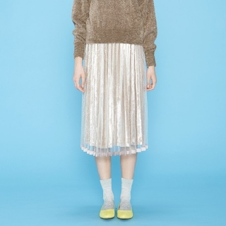 フェリシモ(FELISSIMO)のフェリシモ  シロップ  ベロア チュール スカート  新品未使用(ロングスカート)