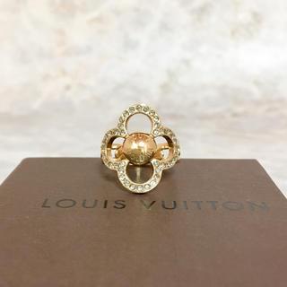 ルイヴィトン(LOUIS VUITTON)の正規品 ヴィトン 指輪 パワーフラワー M66089 花 ゴールド 石 リング2(リング(指輪))