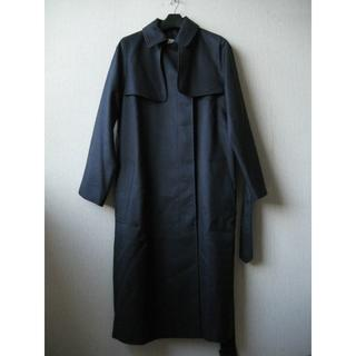 マッキントッシュ(MACKINTOSH)のマッキントッシュ ウールシルク ロングコート サイズ32 白タグ ネイビー(ロングコート)