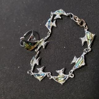 エンゼルフィッシュのブレスレットとヨットの指輪(ブレスレット/バングル)