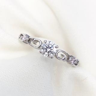 ヴァンドームアオヤマ(Vendome Aoyama)の一粒 天然 ダイヤモンド ピンクダイヤモンド リング(リング(指輪))