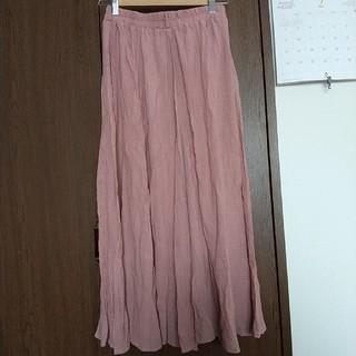 サンタモニカ(Santa Monica)のさくら色マキシスカート(ロングスカート)