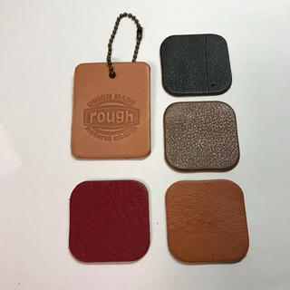 ラフ(rough)のrough 革キーホルダーと土屋鞄の色見本(キーホルダー)
