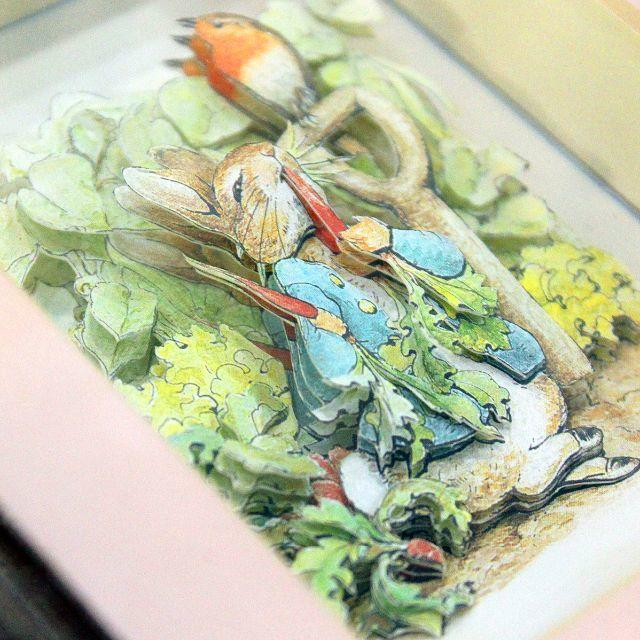 素敵!3D◎!【Peter Rabbit】シャドーボックス2額セット 送料込 エンタメ/ホビーの美術品/アンティーク(絵画/タペストリー)の商品写真