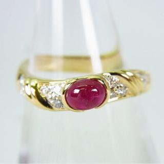 K18 ルビー ダイヤモンド リング 12号[g146-6] (リング(指輪))