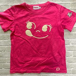 フジヤ(不二家)のペコちゃんTシャツ 130  ピンク USED (Tシャツ/カットソー)