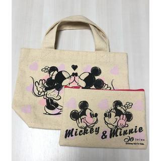 ミッキーマウス(ミッキーマウス)のミニトートバッグ  ポーチ セット ミッキー&ミニー(トートバッグ)