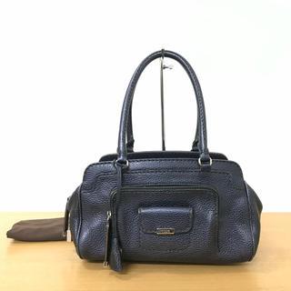 トッズ(TOD'S)の美品 TODS トッズ ハンドバッグ レザー メタリックブルー ◆ロエベ (ハンドバッグ)