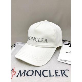 MONCLER - 新品 20SS モンクレール ロゴラメ刺しゅう キャップ ホワイト