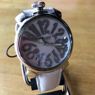 ガガミラノ(GaGa MILANO)の新品✨ガガミラノ スリム クオーツ ユニセックス 腕時計 5020.8 ピンク(腕時計)