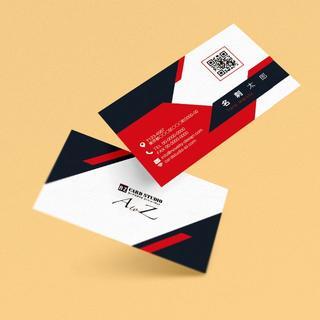 セミオーダー!プロのデザイナーが作る商業印刷の高品質名刺両面100枚/Y0067(オーダーメイド)