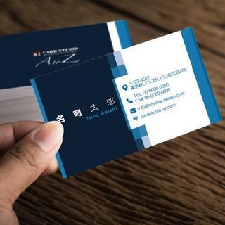 セミオーダー!プロのデザイナーが作る商業印刷の高品質名刺両面100枚/Y0068(オーダーメイド)