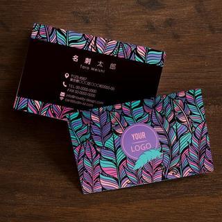 セミオーダー!プロのデザイナーが作る商業印刷の高品質名刺両面100枚/Y0069(オーダーメイド)
