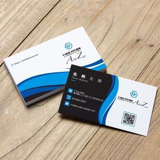 セミオーダー!プロのデザイナーが作る商業印刷の高品質名刺両面100枚/Y0070(オーダーメイド)