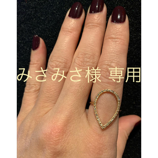K10 0.18カラットダイヤモンドリング(リング(指輪))